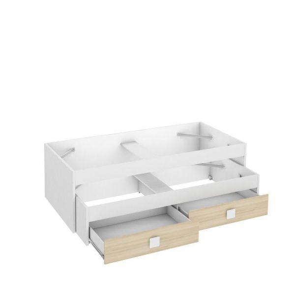 Cama Compacto Blanco/Akacia Juvenil BLAN