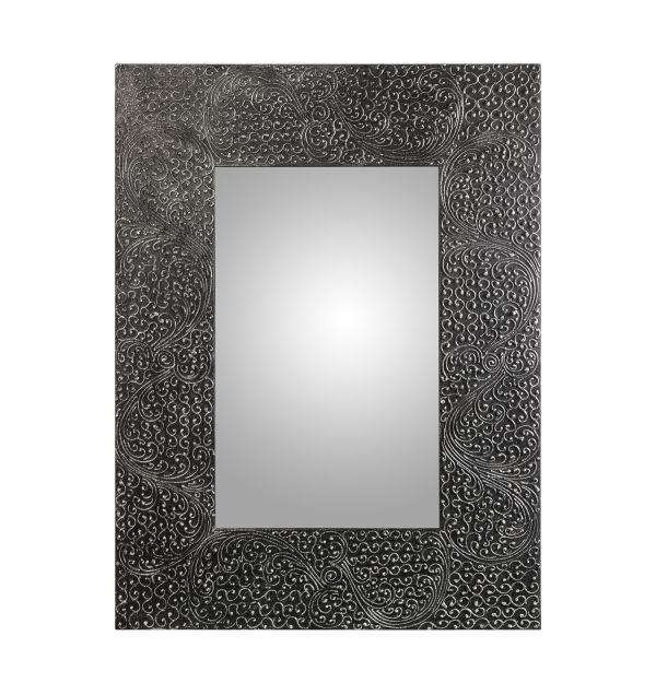 Espejo Rectangular Madera Gris