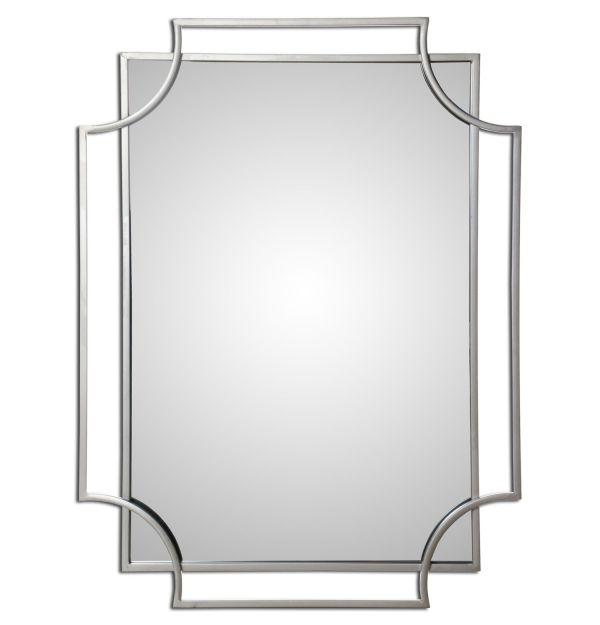 Espejo Metal Plateado