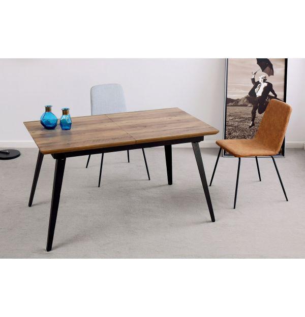 Mesa Comedor Extensible Branch Nogal/Negro - Mejor Precio ...