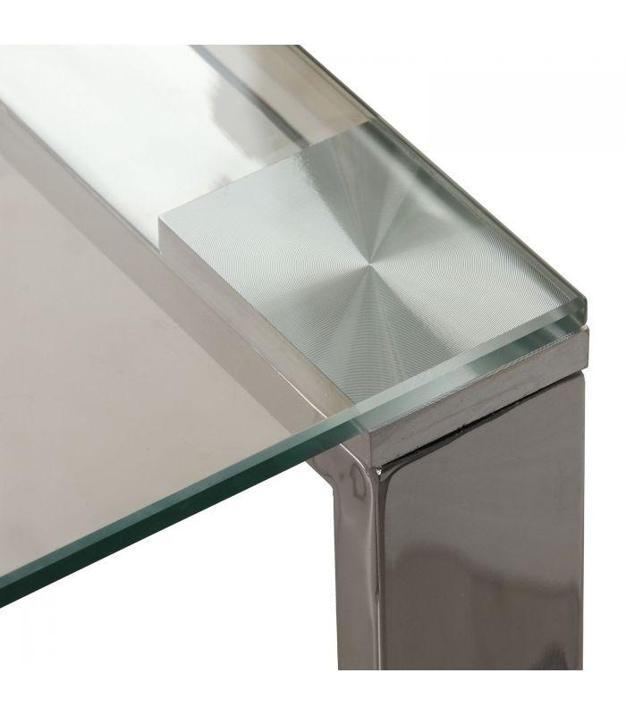 Mesa Auxiliar Zhen Cristal Templado 55x55 Cm Factormueble