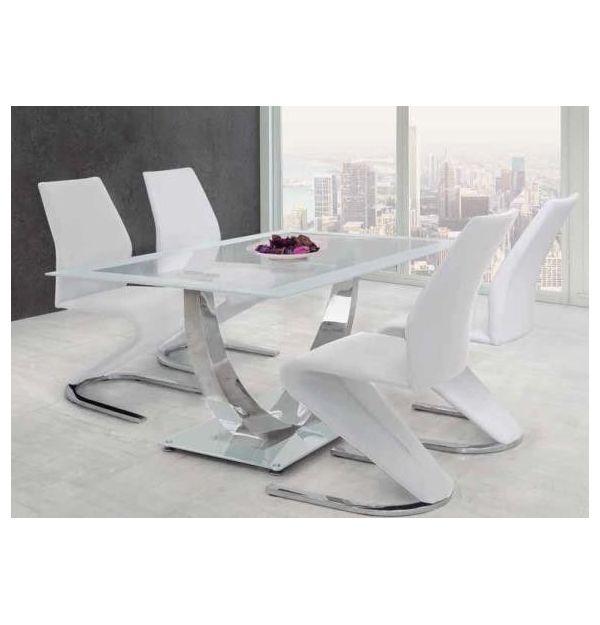 Conjunto Comedor Mesa + 4 Sillas Unique Blanco | Factormueble