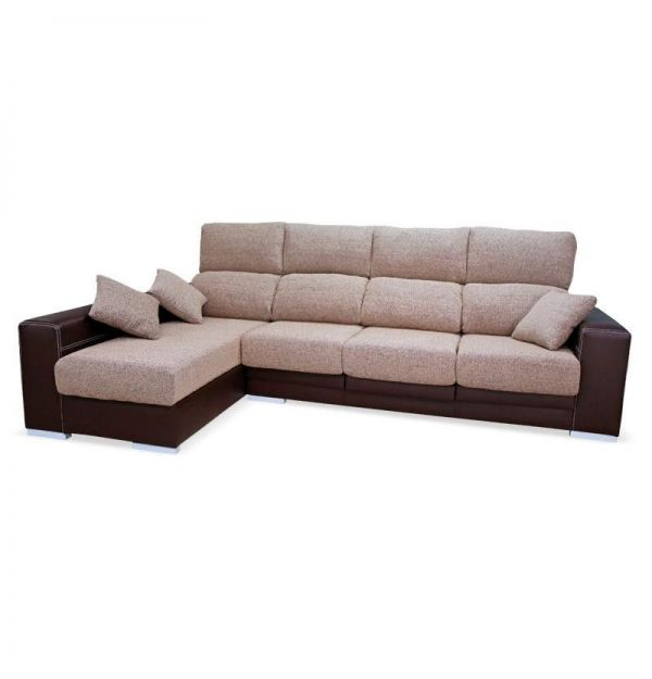 Chaiselongue Beige-Choco 1005
