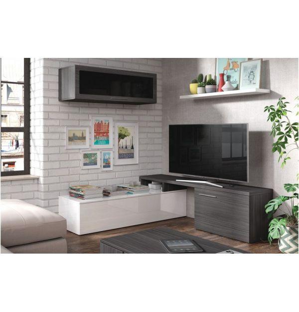 Salón TV Nexus Blanco-Ceniza
