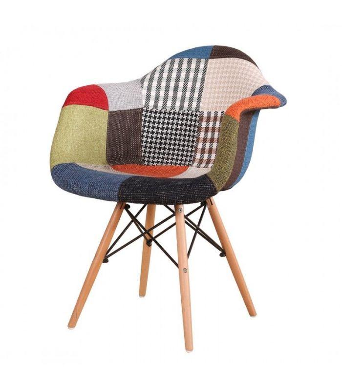 silln eames oskar patchwork - Sillon Eames