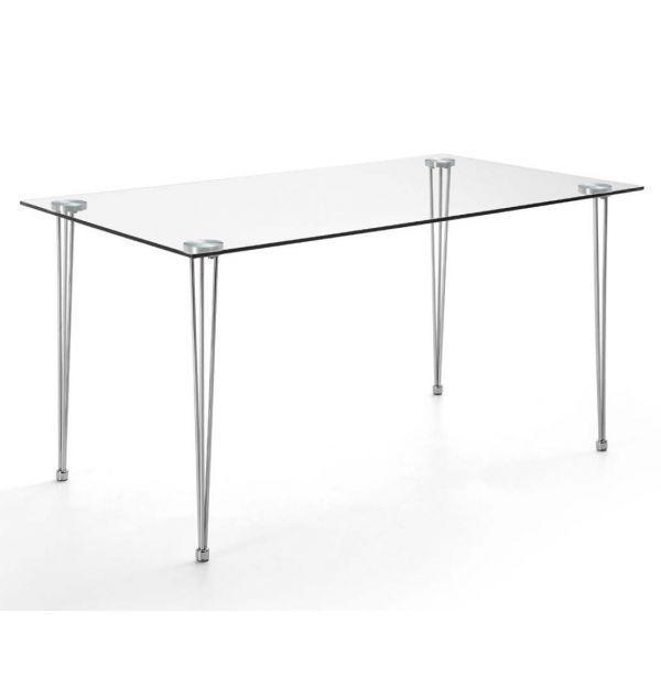 Mesa Cristal Roxana - Oficina - Cocina | Factormueble