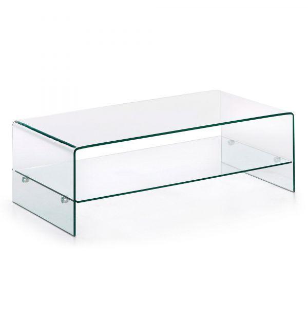 Mesa centro burano cristal templado 110x55 factormueble - Mesas cristal salon ...