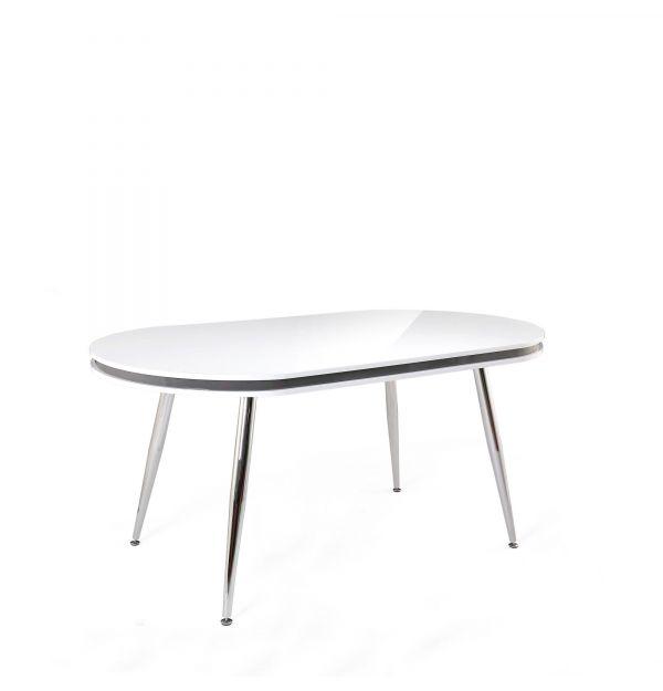 Mesa Comedor Sphere Blanco/Cromo 160x90